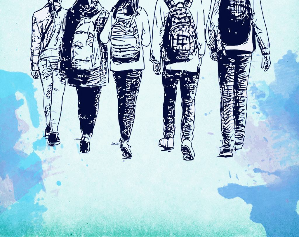回忆逝去的青春的情感句子:长大就要走散啊