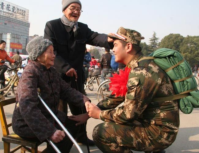 士兵写给父母的一句话:只是为了我,你们才义无反顾