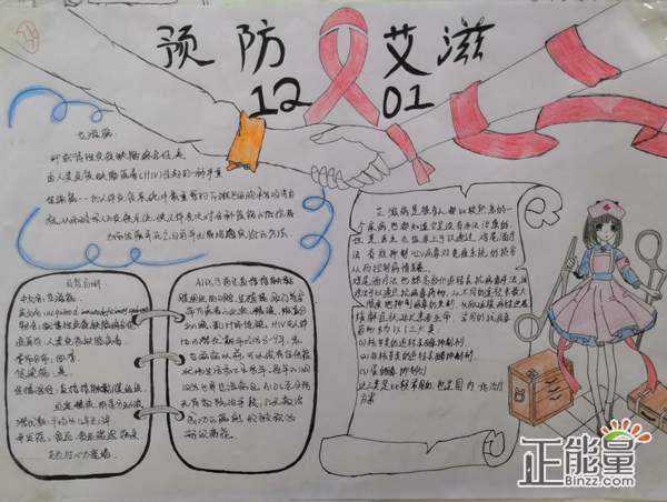 关于预防艾滋病主题手抄报漂亮又简单图片大全