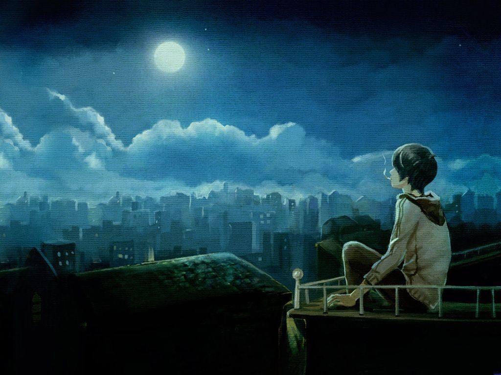 夜晚一个人心累伤感的说说短语大全图片