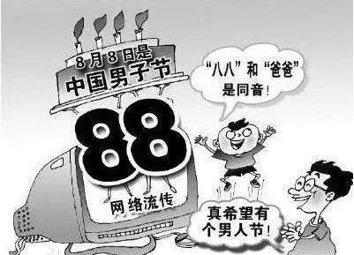 中国父亲节,爸爸节——八月八日