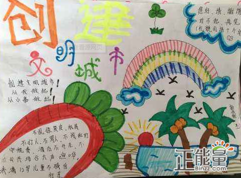 小學生關于創建文明城市手抄報精美圖片大全圖片