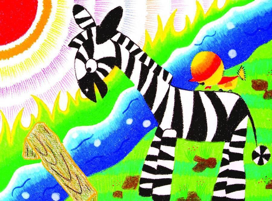 每日儿童童话故事:小斑马找朋友