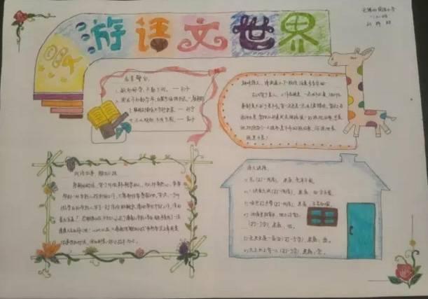 关于五年级语文内容手抄报漂亮又简单图片大全