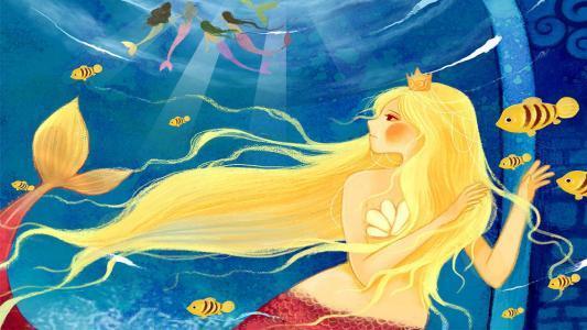 睡前童话故事:风中的蓝纱巾
