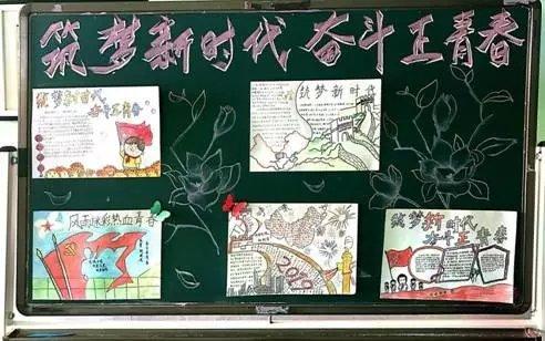筑梦新时代奋斗正青春主题手抄报精选图片大全