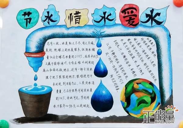 关于爱惜生命之水主题手抄报精美图片大全