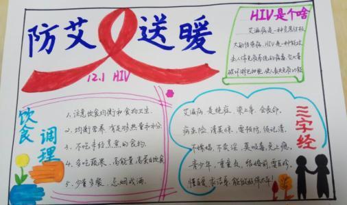 关于艾滋病预防主题手抄报漂亮又简单图片大全