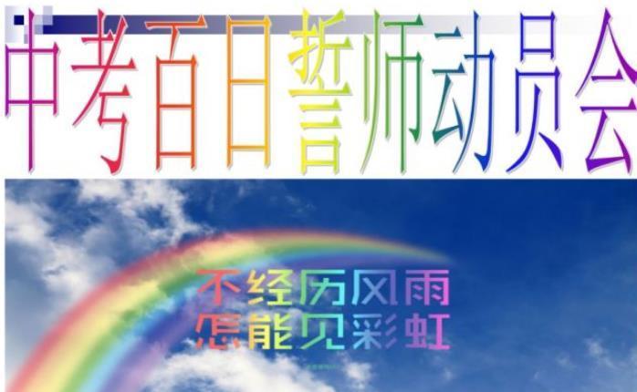 2019中考百日誓师大会发言稿精选2篇
