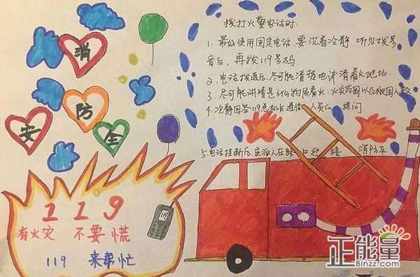 小学生消防安全手抄报简单精美图片澳门威尼斯人在线娱乐