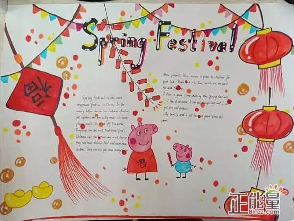 小猪猪年英语主题手抄报精美图片大全